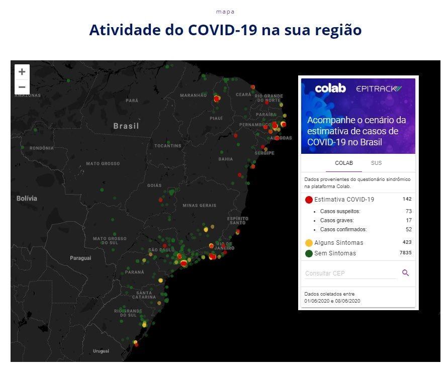 Movimento Brasil Sem Corona prevê área para testagem para Covid-19