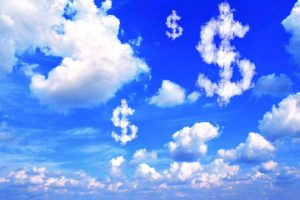 nuvem em forma de dinheiro