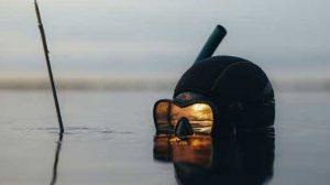 mergulhador com arpão