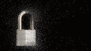 cadeado desfazendo mostra segurança frágil na web