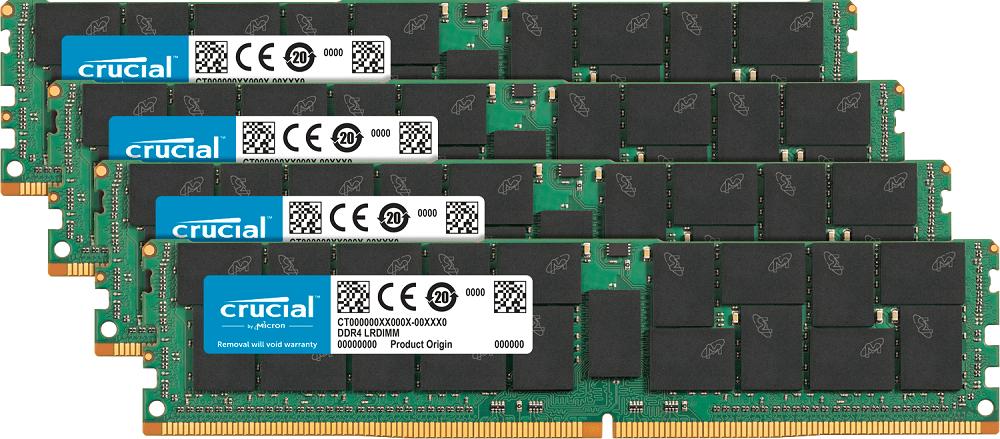 Chegam ao mercado as memórias para servidores Crucial DDR4 LRDIMM de 128 GB