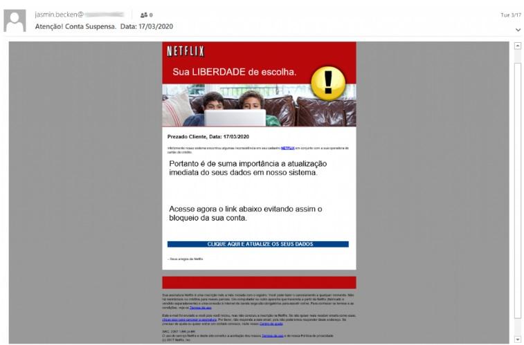 Hackers exploram promoção da Netflix Brasil para roubar dados de cartões