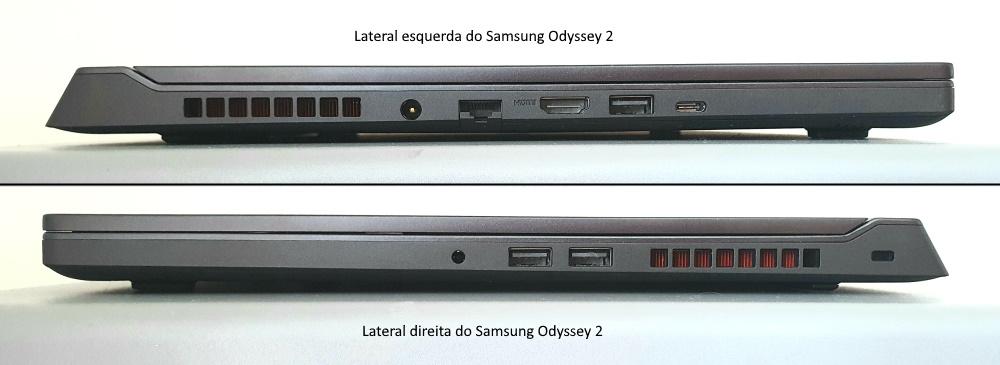 Conexões do Notebook Samsung Odyssey 2