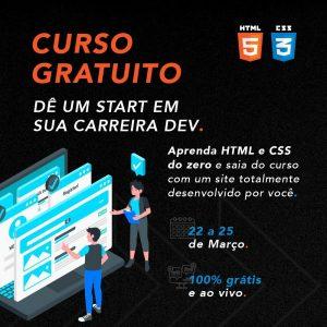 Escola de programação oferece 20 mil vagas gratuitas para aprender HTML e CSS