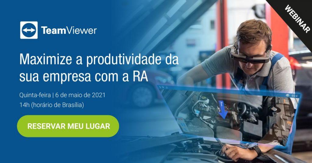 Webinar gratuito TeamViewer aborda uso de RA, do chão de fábrica a toda cadeia de valor