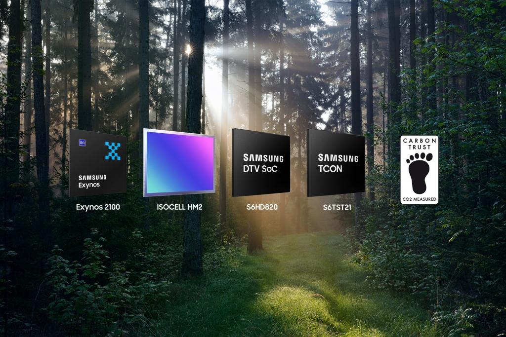 Chips da Samsung recebem certificação de pegada de carbono da Carbon Trust